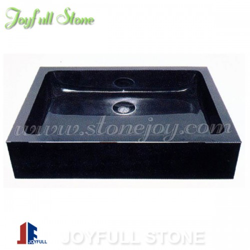 Absolute black granite stone hand basins for bathroom