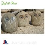 River cobble stone owls wholesale