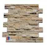 Decorative stacked beige quartzite stone veneers