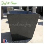 Simple stone granite modern patio planters street furniture