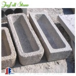 Granite trough planters