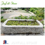 Antique granite trough planters