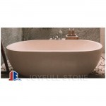 Free standing beige marble tubs for bathroom
