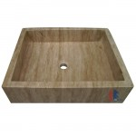 Rectangular travertine stone sinks for sale