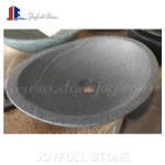 Oval shape stone sinks for bathroom
