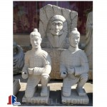Carved stone warrior statues sculptures