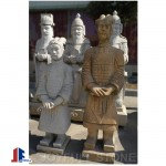 Ancient Chinese stone warrior statues