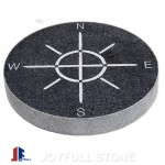 Stone granite compass stepping stones for garden