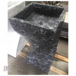 Marble pedestal stone sinks for bathroom