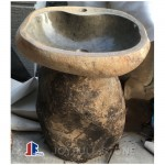 Natural stone pedestal hand basins
