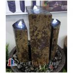 Black basalt column water fountains