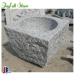 Chinese style grey granite stone basins