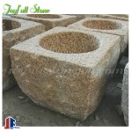 Chinese style yellow granite stone basins