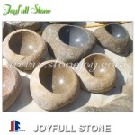 Natural stone basins river stone bowls
