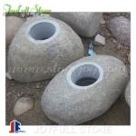 Boulder stone basins stone bowls