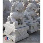 Grey granite Chinese lion sculpture stone fu dog sculpture