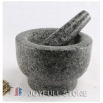 Black Stone mortar and pestle
