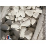 3 to 5 cm not polished White stone pebbles for landscaping