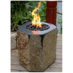 Small size black basalt fire pits  patio firpits