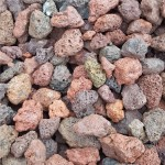 Red lava stone rocks volcanic rocks for landscaping