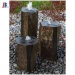 Mongolia Black stone column bubble water fountains