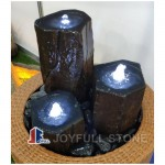Aquascape Black basalt pillar bubble fountains