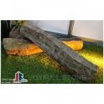 Black basalt palisades pillars for landscaping