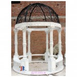 GN-573 Hand carved solid marble gazebo for outdoor