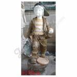KC-716, Little Boy Stone Garden Statues