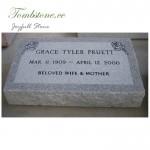 Granite memorial flat markers