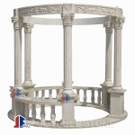 Carved marble gazebo with roman columns