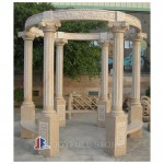 Hand Carved Solid granite stone Outdoor Gazebos