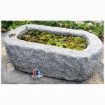 Antique stone water trough old stone planters