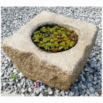 Antique stone  basin granite bowl for landscape