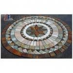 Stone medallion floor stone pattern pavings