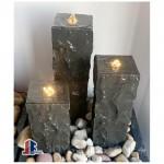 Basalt stone bench table set furnitures
