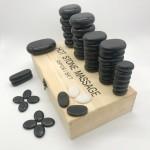 Hot basalt stone massage kit 45 pieces