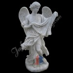 KLE-407, Carved Stone Angel Statues