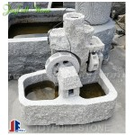 Granite Stone water Wheel fountain for garden