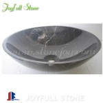 SI-058, Black Stone Vessel for Bathroom