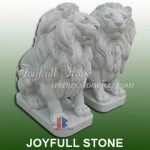 KQ-380, White Marble Lion Statues