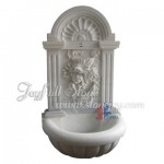 GFQ-045, white marble wall fountain