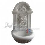 GFQ-045, white marble wall fountain