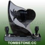MH-014, Granite Headstones with Vases