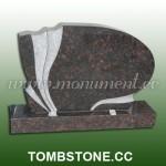 MU-483, Tan Brown granite tombstone