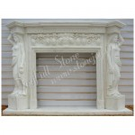 FS-012, Surround Mantel With Statue