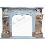 FS-037, Freestanding Fireplace With Lady Statue