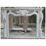 FS-864, European Style Fireplace Mantel With Lion