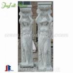 DC-200, Hunan White Marble Statuary Columns