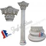 DC-303, White marble columns